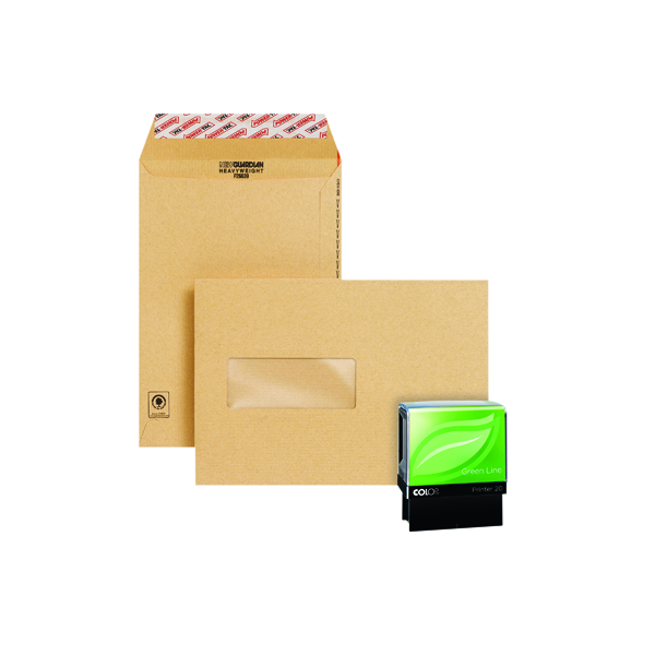 Manila Window New Guardian Easy Open C5 Window Manilla (250 Pack) Plus Free Stamp