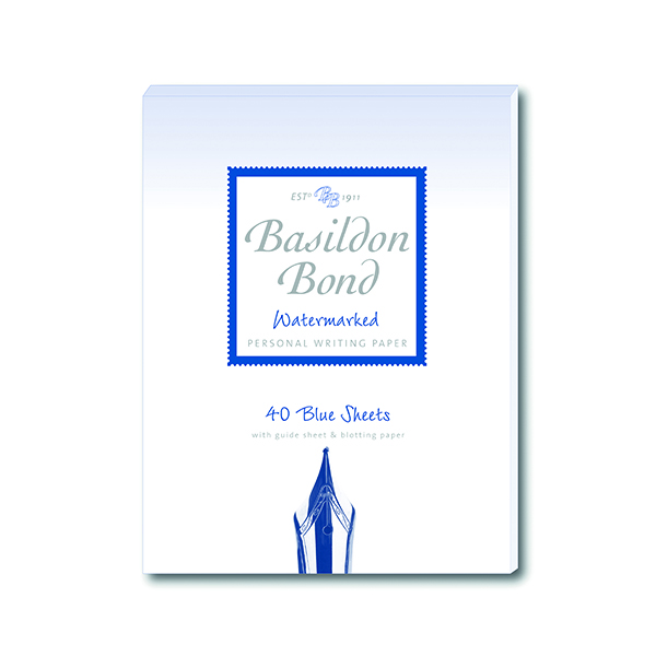 Basildon Bond Blue Writing Pad 137 x 178mm (10 Pack) 100100123