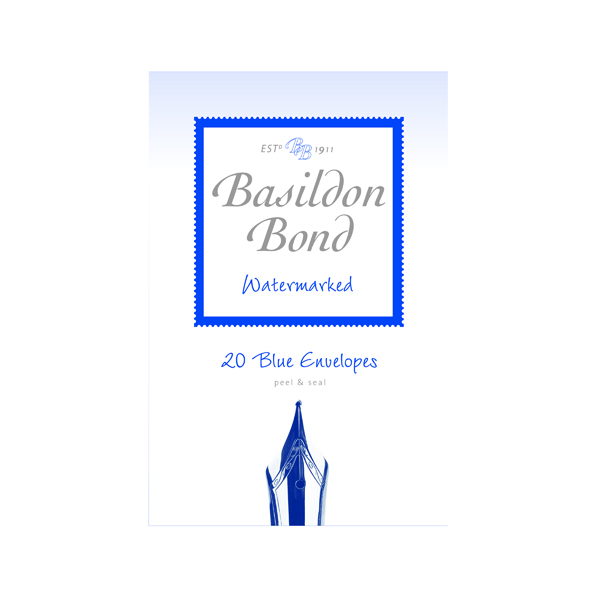 Envelopes Basildon Bond Blue Envelope 95 x 143mm (200 Pack) 100080064