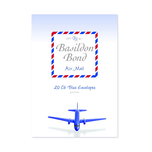 Envelopes Basildon Bond Blue Airmail Envelope 114 x 162mm (200 Pack) 100080079