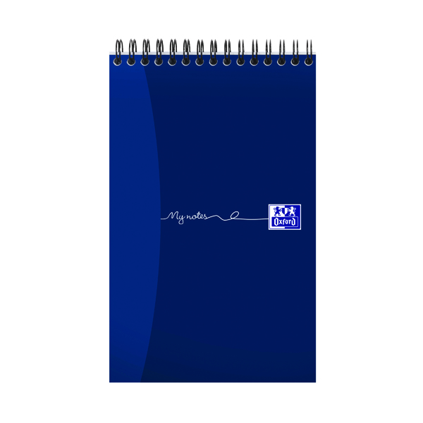8x5in Oxford My Notes Reporter Notebook 160 Pages 125 x 200mm (10 Pack) 100080496