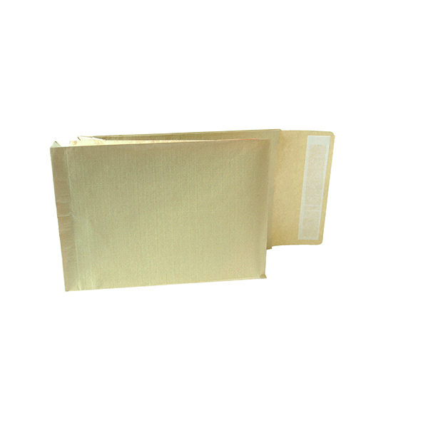 Gusset Plain & Window New Guardian Armour C4 Envelopes Gusset Peel and Seal Manilla (100 Pack) A28113