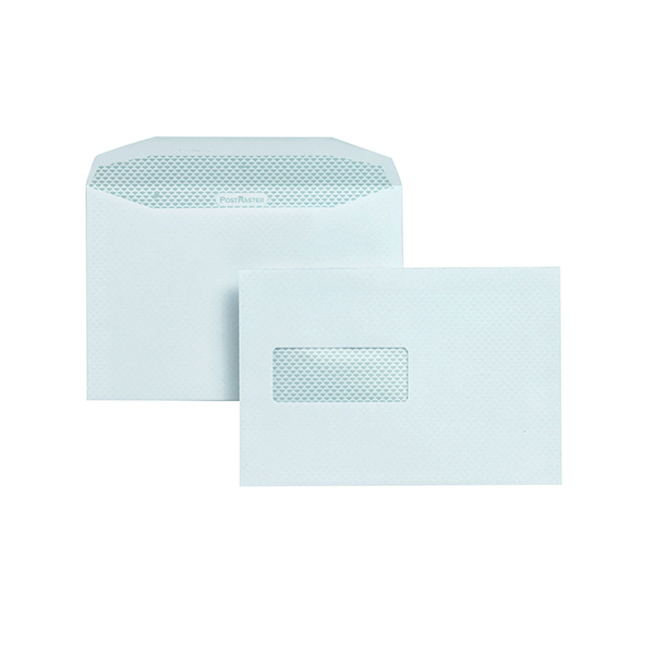 Postmaster Envelope 162x238mm High Window Gummed 90gsm White (500 Pack) A29984