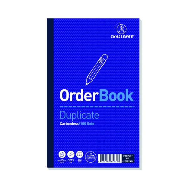 Challenge Carbonless Duplicate Order Book 100 Sets 210x130mm (5 Pack) 100080400