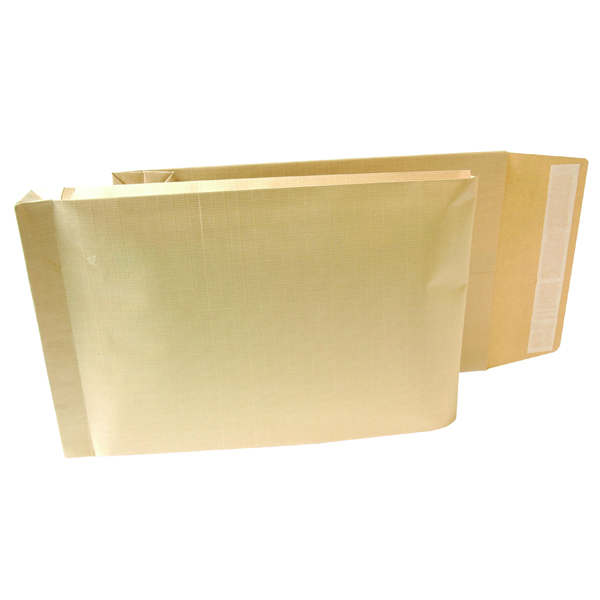New Guardian Armour Envelope Gusset Peel and Seal 470x300x70mm 130gsm Manilla (100 Pack) B28513
