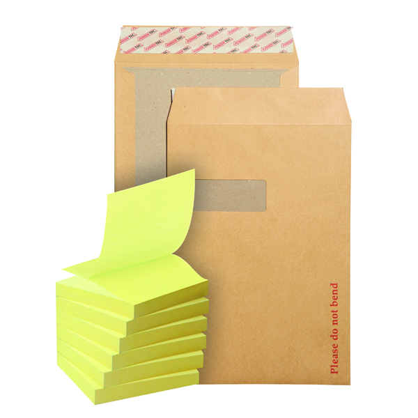 New Guardian C4 Board Back Window Envelope (125 Pack) FOC Post-it Notes Yellow Pk6 JDB814016