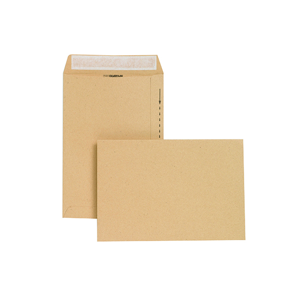 Plain New Guardian Envelope 254x178mm Pocket Peel and Seal Easy Open 130gsm Manilla (250 Pack) C26803
