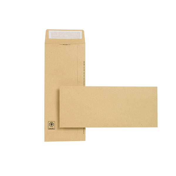 Plain New Guardian Envelope 305x127mm Pocket Peel and Seal Easy Open 130gsm Manilla (250 Pack) C27603