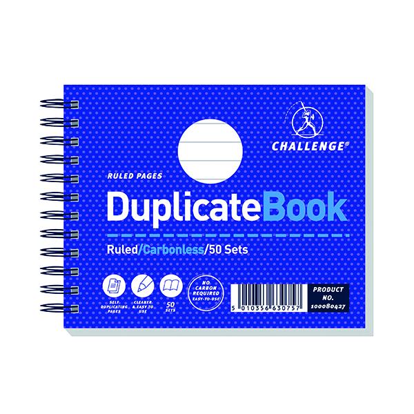 Challenge Wirebound Carbonless Duplicate Book 50 Sets 105x130mm (5 Pack) 100080427