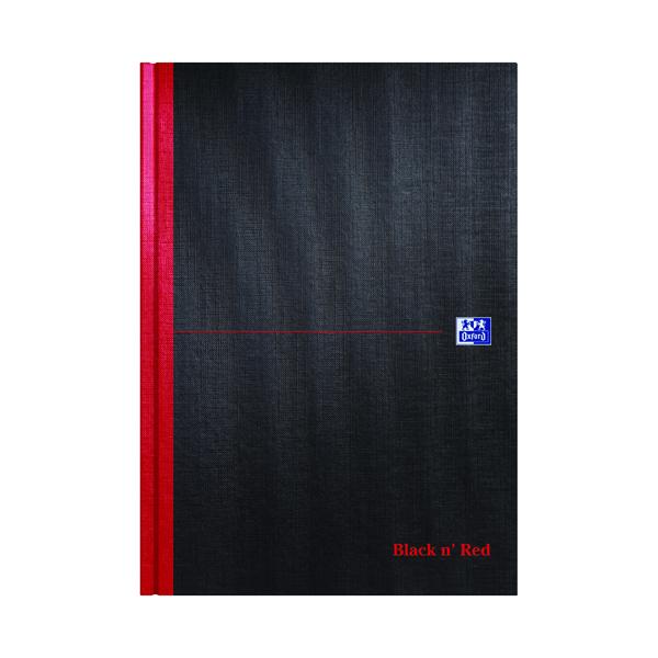 Index Black n' Red A-Z Casebound Hardback Notebook A4 (5 Pack) 100080432
