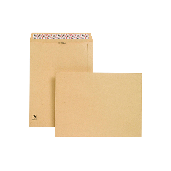 Manila Plain New Guardian Envelope 406x305mm Pocket Peel and Seal 130gsm Manilla (125 Pack) D23703