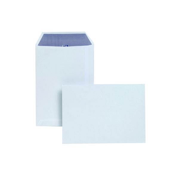 White Plain Plus Fabric C5 Envelopes Self Seal 120gsm White (250 Pack) D23770