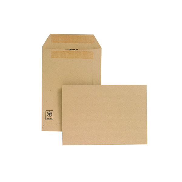 New Guardian C5 Envelopes Pocket Self Seal 130gsm Manilla (250 Pack) D26103
