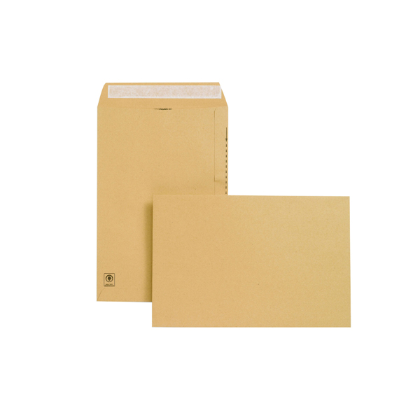Manila Plain New Guardian Envelope 381x254mm Pocket Peel and Seal 130gsm Manilla (125 Pack) E23513