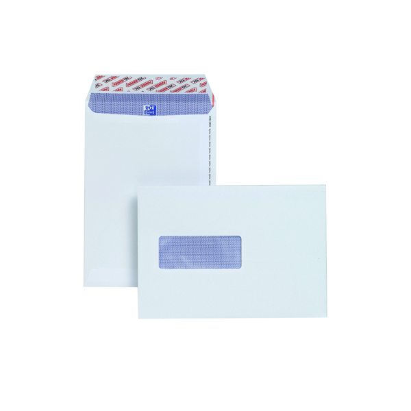 White Window Plus Fabric C5 Envelopes Window Peel and Seal 120gsm White (500 Pack) E24970