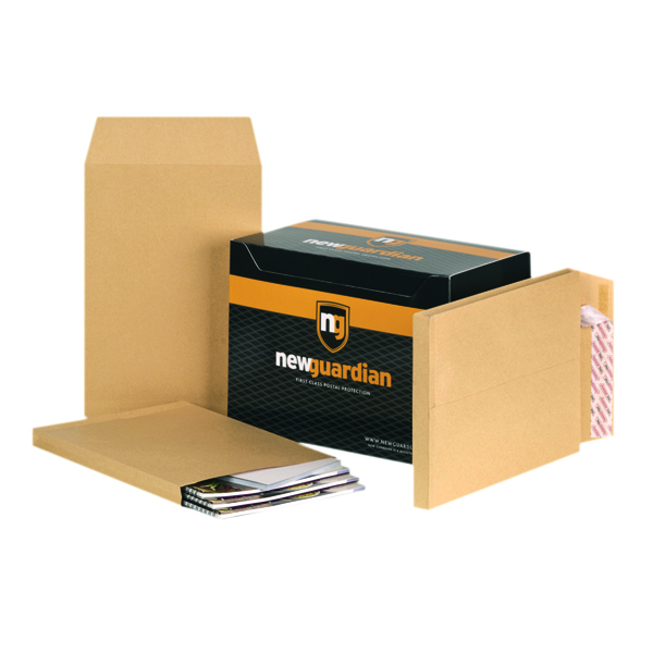 New Guardian C4 Envelopes Gusset Peel and Seal 130gsm Manilla (100 Pack) E27266
