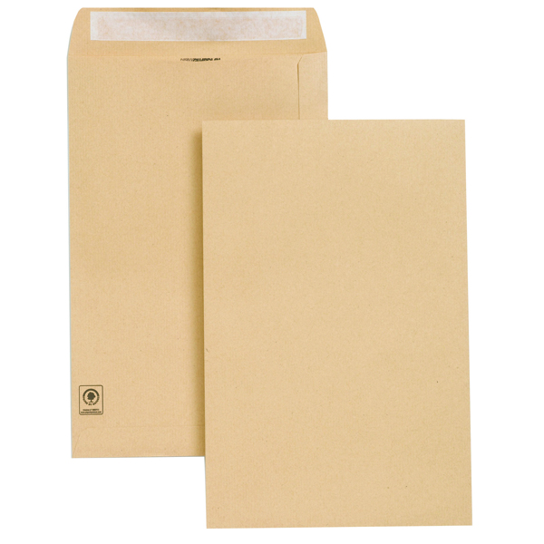 Plain New Guardian Envelope 353x229mm Pocket Peel and Seal Easy Open 130gsm Manilla (250 Pack) E27303
