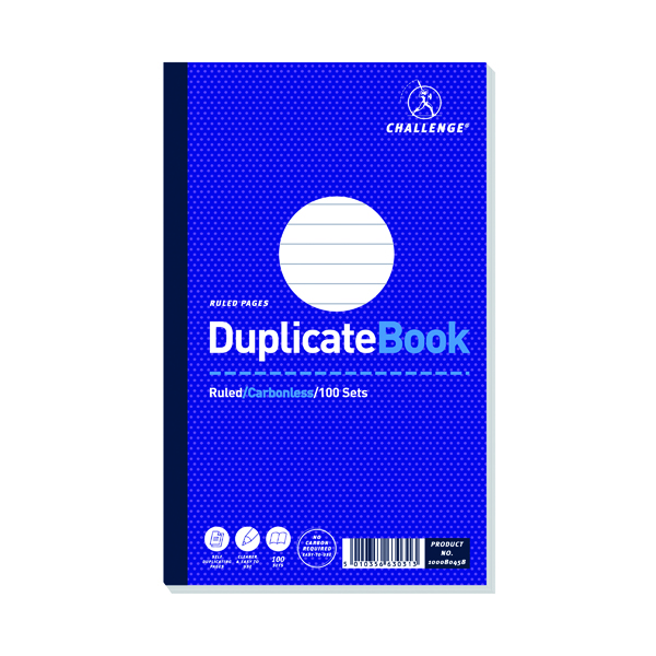 Challenge Carbonless Duplicate Book 100 Sets 210x130mm (5 Pack) 100080458