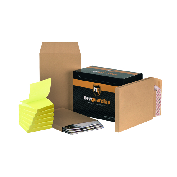 Gusset Plain & Window New Guardian C4 Gusset Envelope Manilla (100 Pack) FOC Post-it Notes Yellow Pk6 JDE814021