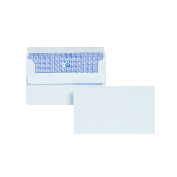 Plain Plus Fabric Envelope 89x152mm Wallet Self Seal 120gsm White (500 Pack) F21870
