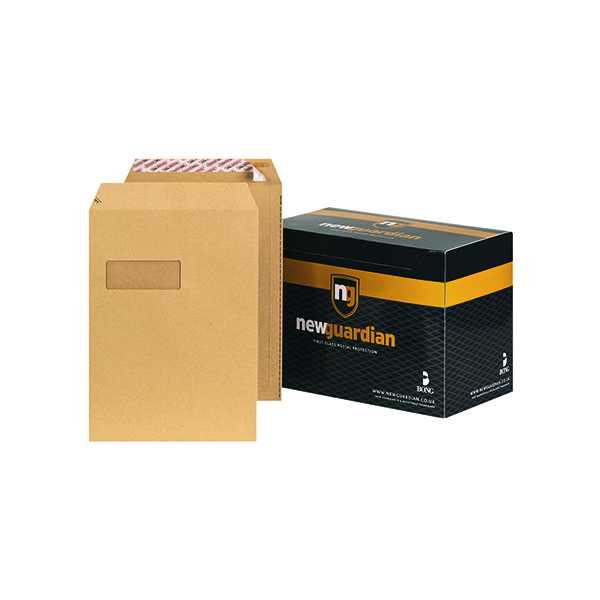 New Guardian C4 Envelopes Window Pocket Peel and Seal 130gsm Manilla (250 Pack) F24203