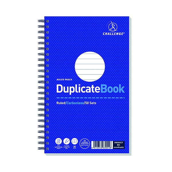 Challenge Carbonless Wirebound Duplicate Book 50 Sets 210x130mm (5 Pack) 100080469
