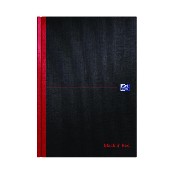 Ruled Black n' Red Ruled Casebound Hardback Notebook A4 100080473