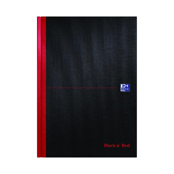 Ruled Black n' Red Narrow Ruled Casebound Hardback Notebook A4 (5 Pack) 100080474