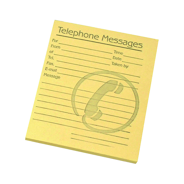 Unspecified Challenge Telephone Message Pad 127x102mm Yellow (10 Pack) 100080477