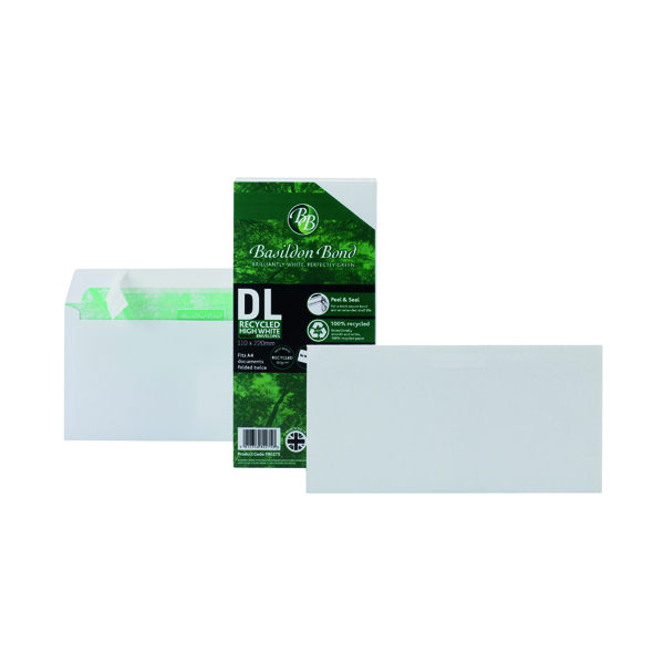 Basildon Bond DL Envelopes Wallet Peel and Seal 100gsm White (100 Pack) F80275