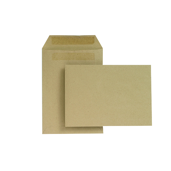 New Guardian C5 Envelopes Pocket Self Seal 80gsm Manilla (500 Pack) H26211