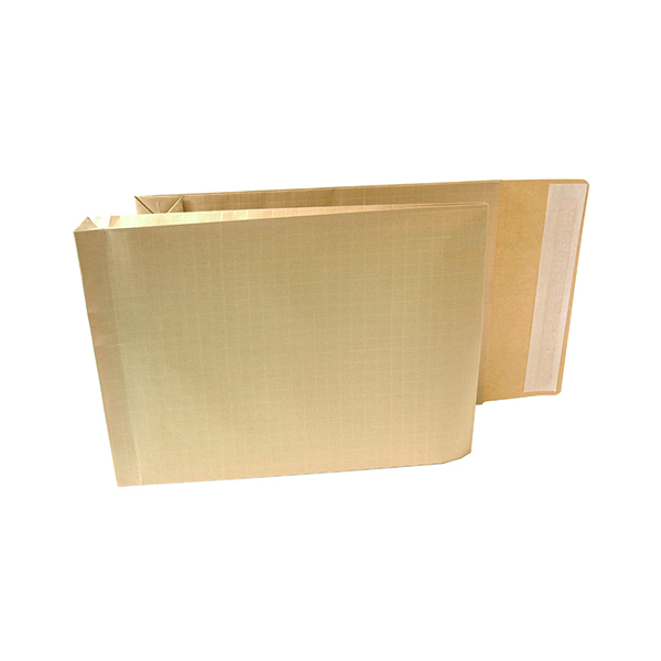 New Guardian Armour Envelope Gusset Peel and Seal 381x279x50mm 130gsm Manilla (100 Pack) H28313