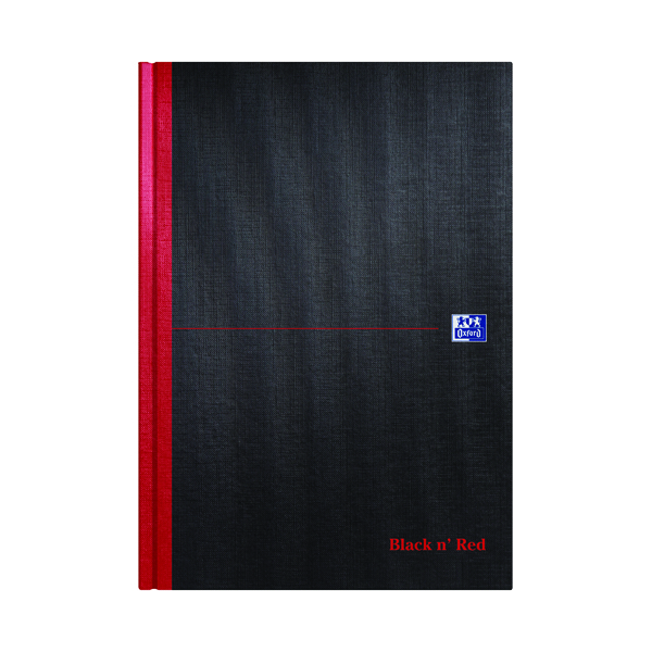 Plain Black n' Red Plain Casebound Hardback Notebook A4 (5 Pack) 100080489