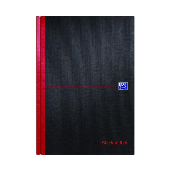 Black n' Red Plain Casebound Hardback Notebook A4 (5 Pack) 100080489