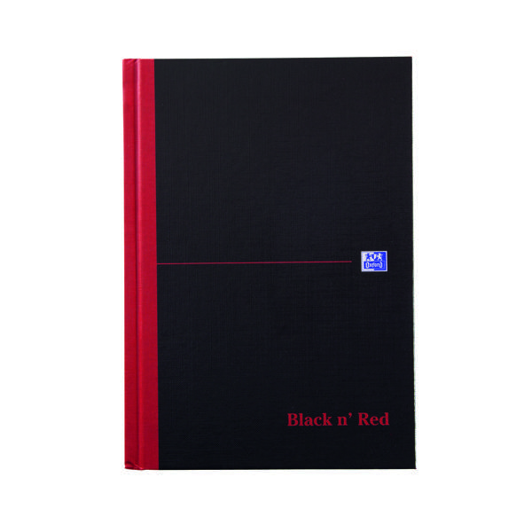 Black n' Red A-Z Casebound Hardback Notebook 192 Pages A5 (5 Pack) 100080491