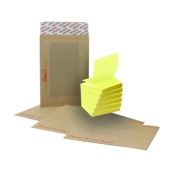 New Guardian C4 Board Back Envelope Manilla (125 Pack) FOC Post-it Notes Yellow Pk6 JDH814003