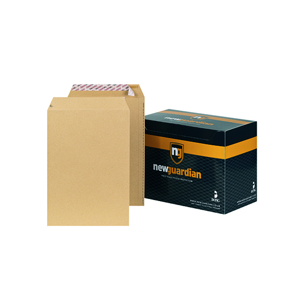 New Guardian C4 Envelopes Pocket Peel and Seal 130gsm Manilla (250 Pack) J26339