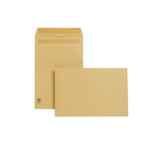 New Guardian Envelope 381x254mm Pocket Self Seal 130gsm Manilla (250 Pack) J27403