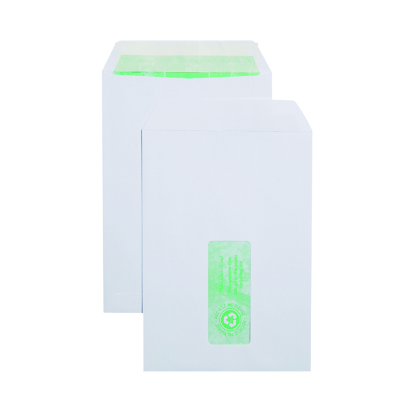 Basildon Bond C5 Envelopes Pocket Window Peel and Seal 120gsm White (500 Pack) J80119