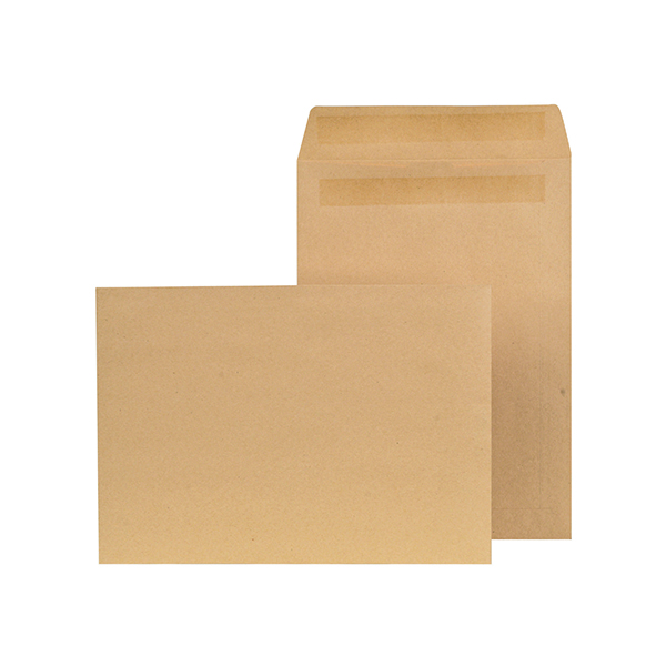 New Guardian C4 Envelopes Pocket Self Seal 90gsm Manilla (250 Pack) K26309
