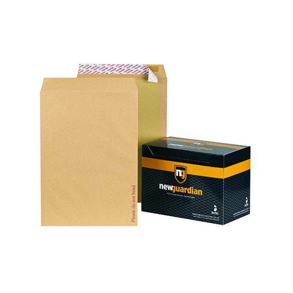 Board Back New Guardian C3 Envelope Board Back Peel and Seal 130gsm Manilla  (50 Pack) K27926