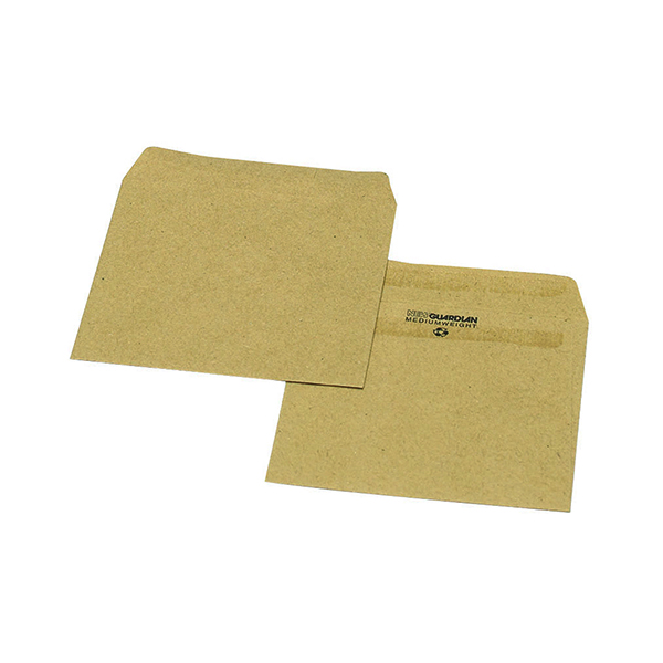Unspecified New Guardian Envelope 108x102mm Wage Plain Self Seal 80gsm Manilla (1000 Pack) L20219