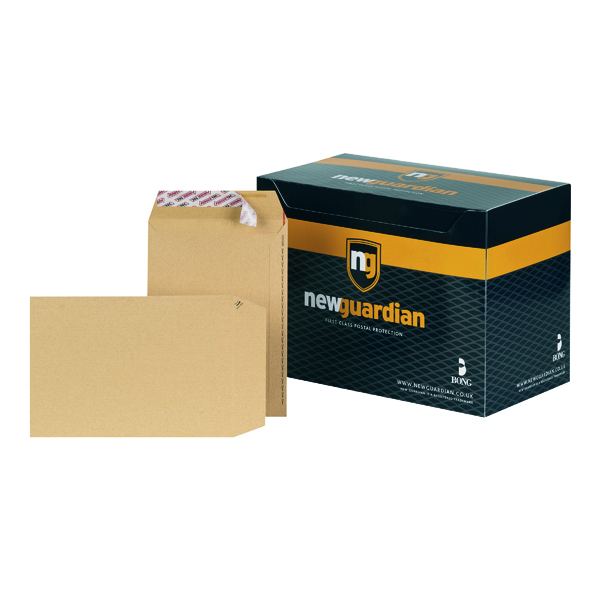 New Guardian C5 Envelopes Pocket Peel and Seal 130gsm Manilla (250 Pack) L26039
