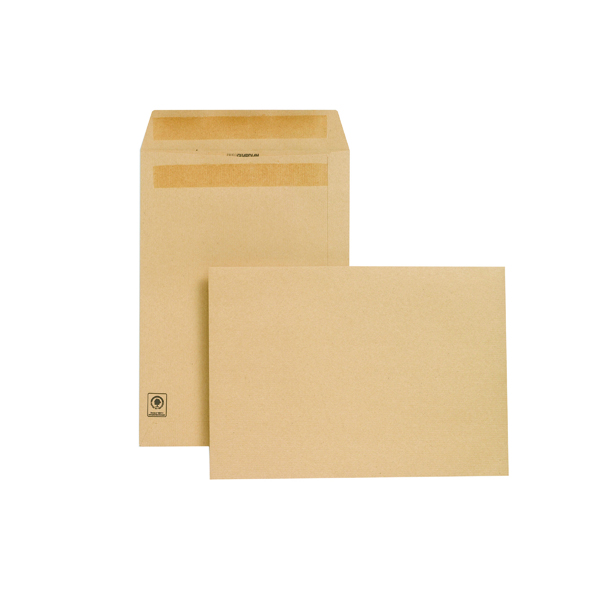 New Guardian C4 Envelopes Pocket Self Seal 130gsm Manilla (250 Pack) L26303