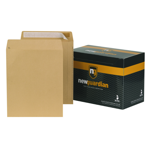 Plain New Guardian Envelope 305x250mm Pocket Peel and Seal 130gsm Manilla (250 Pack) L27103
