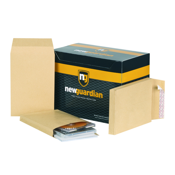 New Guardian Envelope Gusset Peel and Seal 241x165x25mm 130gsm Manilla (100 Pack) L27306