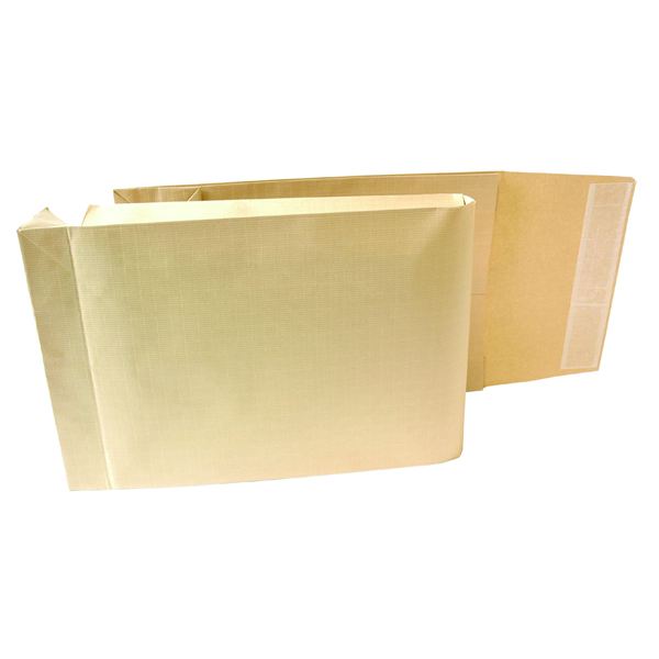 New Guardian Armour Envelope Gusset Peel and Seal 465x340x50mm 130gsm Manilla (100 Pack) L28413