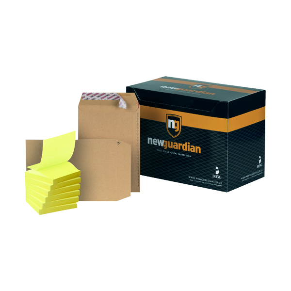 New Guardian C5 Envelope Peel and Seal Manilla (250 Pack) FOC Post-it Notes Yellow Pk6 JDL814016