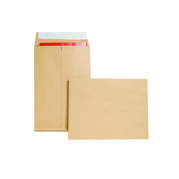 New Guardian Envelope Gusset Peel and Seal 350x248x25mm 130gsm Manilla (100 Pack) M29066