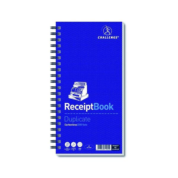 Challenge Duplicate Receipt Book 200 Sets 280x141mm 100080056